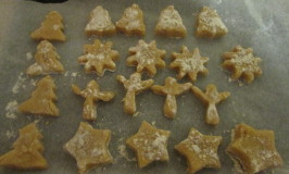 Home education – Christmas biscuits and a little snow