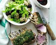 Rack of lamb recipe with blackberry salad