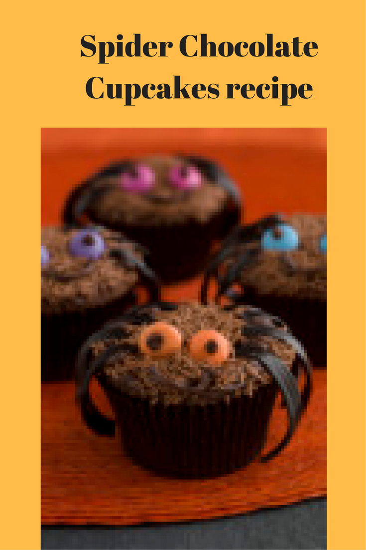 Spider Chocolate Cupcakes